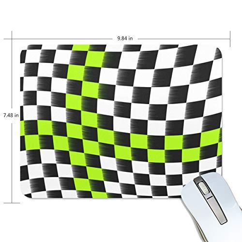 d, karierte Flagge, Mauspad, Computer-Tastatur, Mauspad, 24 x 20 x 0,2 Zoll ()