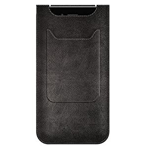 Agent18 iPhone 6 Plus/iPhone 6S Plus Case, Black Leather Pocket - Sleeve