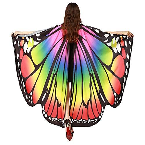 YAYAKI Karneval Schmetterlingsflügel Damen Schals Nymphe Pixie Poncho Kostümzubehör für Cosplay Party