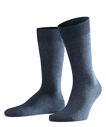 FALKE Herren Socken Swing 2er Pack, Baumwollmischung, 2 Paar, Blau (Navy Blue Melange 6490), Größe: 43-46