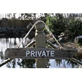 """wooden """"private"""" sign"""