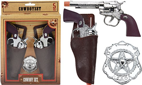 Eliware Kinderkostüm 4-teiliges Cowboy - Teiliges Piraten Kostüm Set