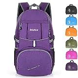 Bekahizar 35L Lightweight Backpack Foldable Hiking Rucksack Water Resistant Travel Daypack Bag