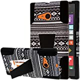 Nokia Lumia 735 Case, MPERO IMPACT X Series Dual Couches Robuste Durable Shock Absorbing Silicone Polycarbonate Hybrid Kickstand Case for Lumia 735 [Perfect Fit & Precise Port Cut Outs] - Noir Aztec