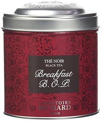 Comptoirs Richard Thé Noir Breakfast BOP Boîte Métal Vrac 120 g