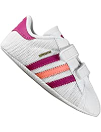 79e9aab071e adidas Originals Superstar Shelltoe bebé niñas blanco rosa cuna zapatos  blanco white pink cerise