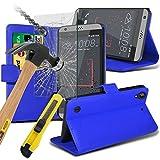 HTC Desire 630 Hülle Etui Fall (blau) Abdeckung für HTC