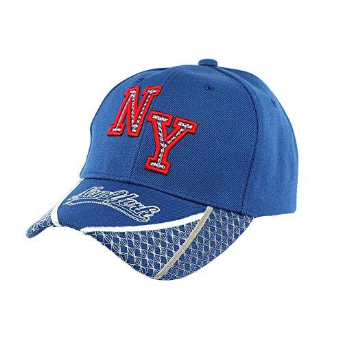 Hip Hop Honour Casquette Baseball NY Bleu et Rouge Stan - Mixte
