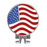 Senoow Personalisierte Amerikanische Flagge Golf Ball Marker W/Magnetische Hut Cap Clip Zubehör