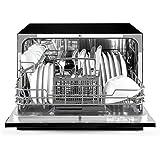 Klarstein Amazonia 6 Nera Spülmaschine Tischgeschirrspülmaschine (1380 Watt, 55 cm breit, 6 Maßgedecke, geräuscharm, 6 Programme, Aquastop, LED-Kontrollleuchten) schwarz -