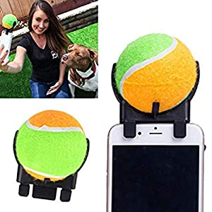Intyei Photo Chien Outil Balle de Tennis Selfie bâton Jouer Jeux interactif Jouet pour Animal de Compagnie Perches Selfie