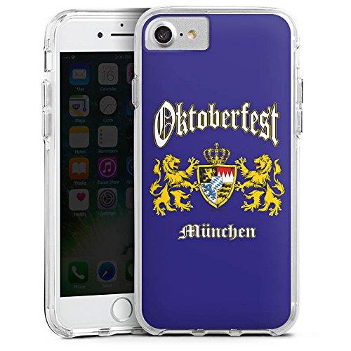 Apple iPhone 8 Bumper Hülle Bumper Case Glitzer Hülle Oktoberfest Bavaria Bayern Bumper Case transparent
