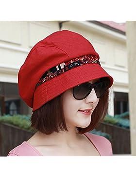Señora pescador hat hat de impresión en color de moda ocio cuenca de resorte ajustable tapa roja cinco días de...