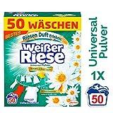 Weißer Riese Universal Pulver Aromatherapie Bali, Vollwaschmittel, 1er Pack (1 x 50 Waschladungen)