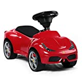 Ricco 83500 Red Official Licensed Ferrari 458 Kids Ride On Foot Push Along Sliding Toy Car