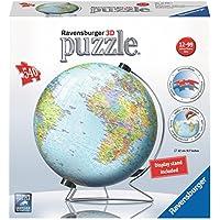 Ravensburger puzzle 3D da 540 pezzi a forma di mappamondo, con supporto a V