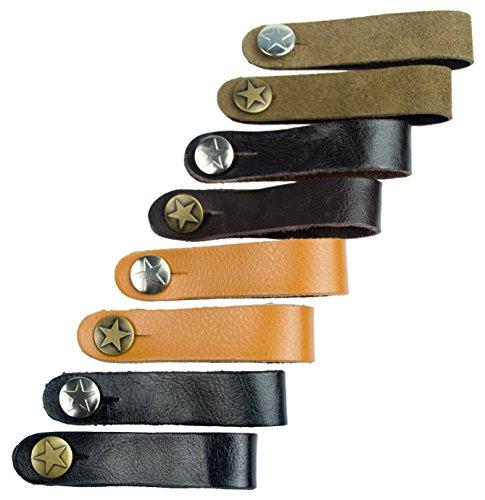 Akustische Gitarre Strap Button (verschiedene Farben) von Kavallerie Träger Dark Brown with Silver Button -