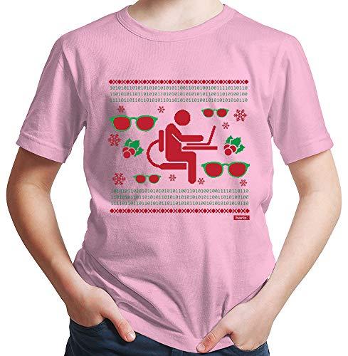 HARIZ  Jungen T-Shirt Weihnachten Nerd Programmierer Weihnachten Xmas Geschenke Tannenbaum Plus Geschenkkarten Rot 164/14-15 Jahre