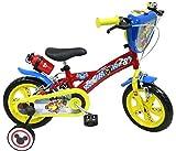 EDEN-BIKES Vélo 12'' Mickey/Disney Équipé DE 2 Freins - 2 Stabilisateurs avec Montage sans Outils - Transmission Monovitesse