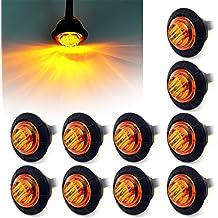 Fxc 10x 3/4redondo clearence luz LED frontal trasera Luz de marcador lateral Indicadores para camión REMOLQUE Bus de coche Van Caravan barco, piloto trasero freno Stop Lámpara 12V