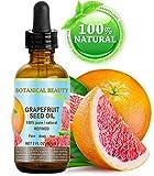 Botanische Schönheit GRAPEFRUIT-SAMENÖL. 100% reines natürliches unverdünntes verfeinertes kaltes gepresstes Trägeröl (nicht ätherisches Öl). 2 Fl.oz.- 60 ml. Für Haut-, Haar- und Lippenpflege.