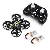 LBLA Mini Drohne Quadrocopter mit 2 Batterien und Fernsteuerung (SCHWARZ)