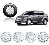 #9: Autorepute Premium Quality Car Full Wheel Cover Caps Silver 14Inches - Maruti Suzuki Swift Dzire 2015