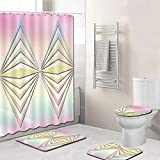 EMG Polyester Faser Badezimmer Vorhang Badezimmer Wolldecken Toiletten Sitz Kissen 16 Stück Satz Kreative Geometrie Serie