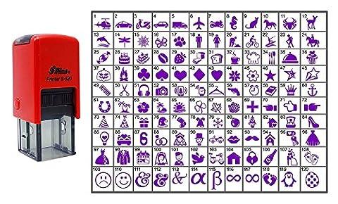 Wählen Sie Ihre Personalisierte Symbol Stempel Selbst Inking GLÄNZENDEN 20 mm Mini Stamper - Violet Ink