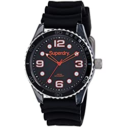 Superdry SYG163B Mens Tokyo Sport Black Silicone Strap Watch