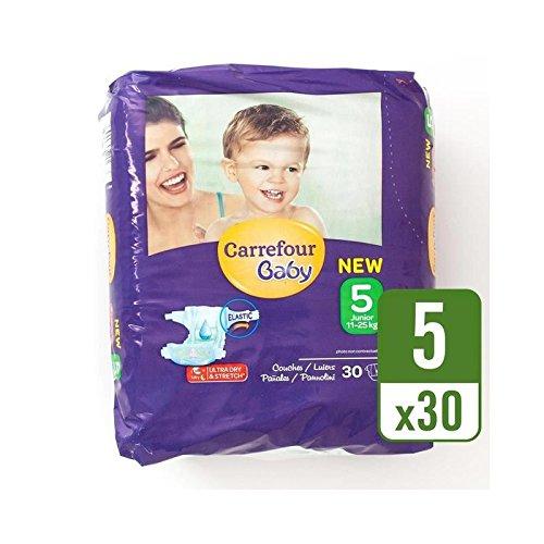 carrefour-bebe-tamano-ultra-seco-5-panales-llevan-paquete-de-30-por-paquete-paquete-de-6