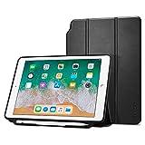 #9: Spigen Smart Fold (Version 2) with Pencil Holder Case for Apple iPad 9.7 (2017) / iPad 9.7 (2018) -Black 053CS23991