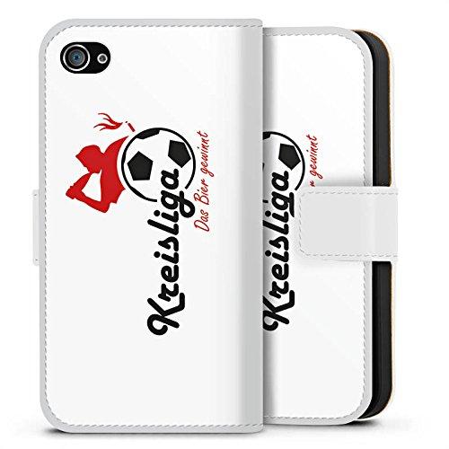 Apple iPhone X Silikon Hülle Case Schutzhülle Kreisliga Fußball Bier Sideflip Tasche weiß