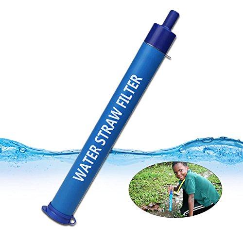 Longwei Outils de purificateur d'eau portable microfiltration de paille de filtre pour le camping randonnée Préparation de secours de voyage aquatique extérieure stylo de filtre à eau de 3