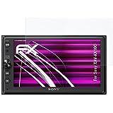 Sony XAV-AX100 Verre film protecteur - atFoliX FX-Hybrid-Glass à revêtement dur élastique 9H Protecteur de verre en plastique