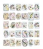 Set von 30 Nahrungsmittelpostkarte Literatur und Kunst-Art-Gruß-Karte