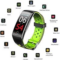 Cardiofrequenzimetro con schermo a colori, Viosimc Activity Tracker, fitness tracker, sleep monitor, Smart Watch, Step Counter contapassi sfigmomanometro per donne uomini bambini, Smart Wristband con contatore di calorie, Green