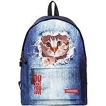 TTD 3D cute CAT/perro patrón mochila escuela bolsa de peso ligero mochila para senderismo viajes camping