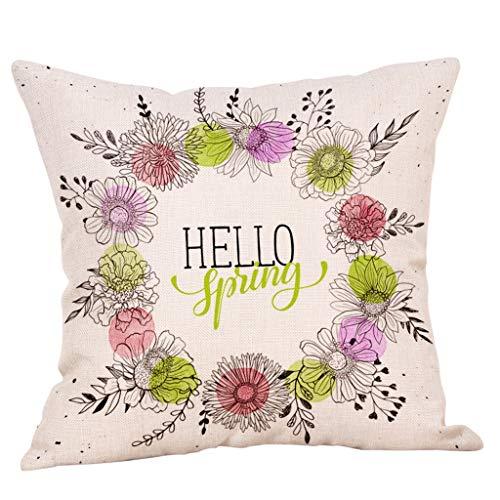 "OPAKY 18\""Spring Flower Kissenbezug Square Cover Sofa Taille Kissenbezüge Home Decor"