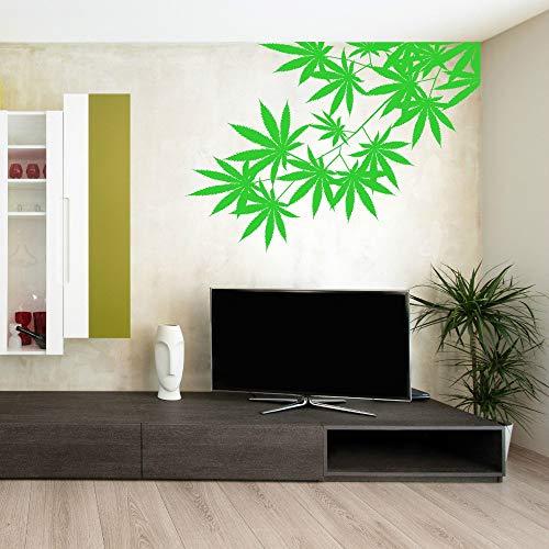 Green Tree Leafs Pflanze Unkraut Vinyl Design Wandaufkleber Kunst Home Wohnzimmer Schlafzimmer Dekor Links Rechts Vor Wahl Tapete 81 * 57 cm -