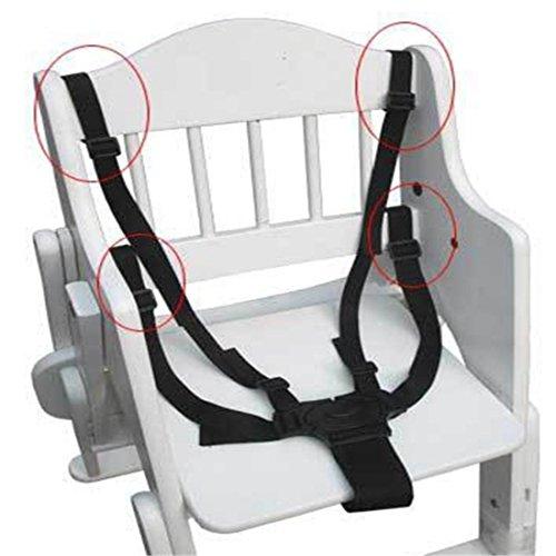 Kungfu Mall 5 points réglable sangle de ceinture d'entraînement de fixaction de sécurité des sièges d'enfant chaise bébé landau poussette buggy harnais