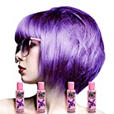 Crazy Colour Semi Permanent Haarfärbemittel Hot Purple No.62 (100ml) Box of 4