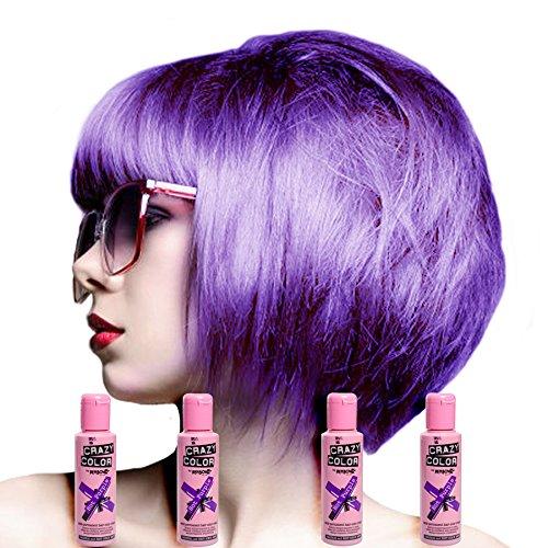 Renbow - Tinta per capelli semi-permanente Crazy Colour, Fucsia No.62 (100ml) Scatola da 4