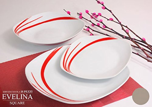 Servizio piatti da tavola colorati in ceramica di design shabby chic 6 persone 18 pezzi 6 - Servizio piatti design ...