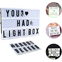 Light Box A4,CrazyFire LED Cinema Box Luminosa Cinematografica Lampada,104  Lettere E 85