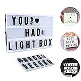 Lumineuse Boite A4, CrazyFire LED Cinema Lumineuse avec 104 Lettres, 85 Symboles...