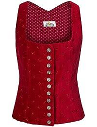 Almsach Damen Trachten-Mode Trachtenmieder Bärbl in Rot traditionell