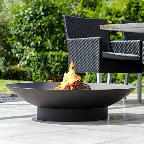 Braciere da giardino Moderno 80 - con una finitura nera resistente al calore