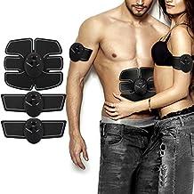 Electroestimulador Muscular Abdominales, NOWKIN Masajeador Eléctrico Cinturón, EMS Estimulador Muscular para Piernas, Brazo y abdomen en casa