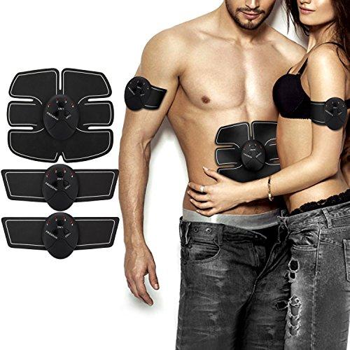 NOWKIN Electroestimulador Muscular Abdominales, Masajeador Eléctrico Cinturón, EMS Estimulador Muscular para Piernas, Brazo y Abdomen en casa